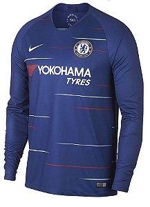 Camisa Chelsea 2018 2019 I jogador manga comprida