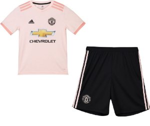 Kit infantil oficial Adidas Manchester United 2018 2019 II jogador
