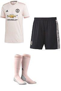Kit adulto oficial Adidas Manchester United 2018 2019 II jogador