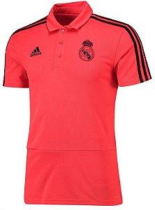 Camisa Polo oficial Adidas Real Madrid 2018 2019 Vermelha