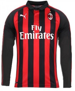 Camisa oficial Puma Milan 2018 2019 I jogador manga comprida