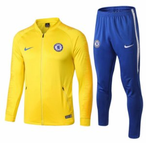 Kit treinamento oficial Nike Chelsea 2018 2019 amarelo e azul