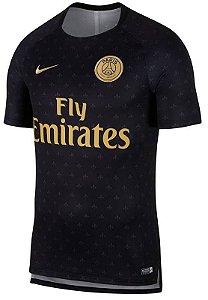 Camisa de treino oficial Nike PSG 2018 2019 preta