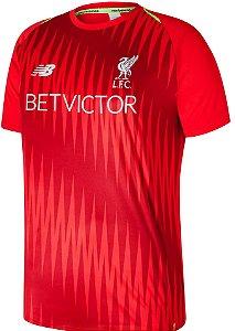 Camisa de treino oficial New Balance Liverpool 2018 2019 vermelha