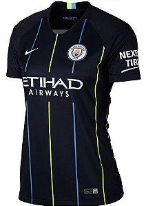 Camisa feminina oficial Nike Manchester City 2018 2019 II