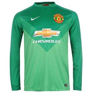 Camisa oficial Nike Goleiro Manchester United 2014 2015 I
