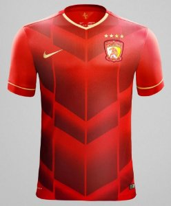 Camisa oficial Nike Guangzhou Evergrande 2014 I jogador