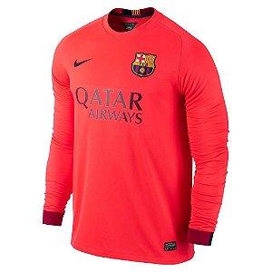 Camisa oficial Nike Barcelona 2014 2015 II jogador manga comprida