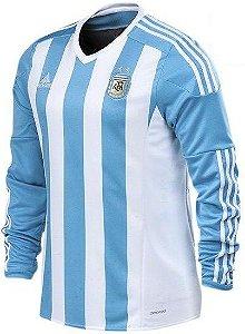 Camisa oficial Adidas Seleção da Argentina 2015 I jogador manga comprida