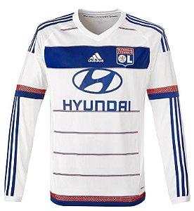 Camisa oficial Adidas Lyon 2015 2016 I jogador manga comprida