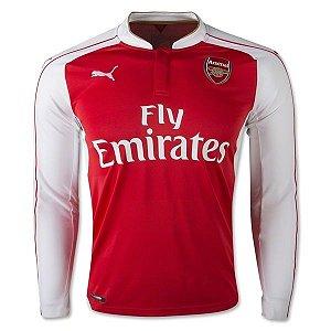 Camisa oficial Puma Arsenal 2015 2016 I jogador manga comprida