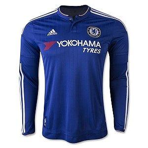 Camisa oficial Adidas Chelsea 2015 2016 I jogador manga comprida