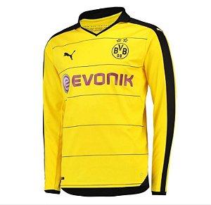Camisa oficial Puma Borussia Dortmund 2015 2016 I jogador manga comprida