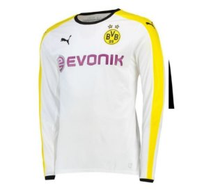 Camisa oficial Puma Borussia Dortmund 2015 2016 II jogador manga comprida