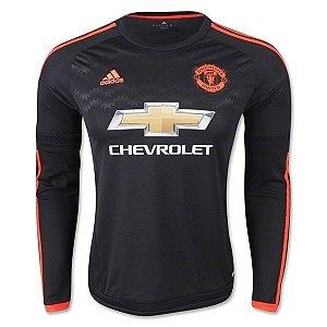 Camisa oficial Adidas Manchester United 2015 2016 III jogador manga comprida