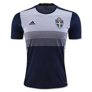 Camisa oficial adidas seleção da Suécia Euro 2016 II jogador