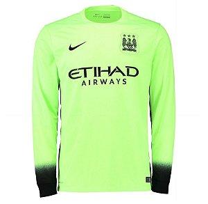 Camisa oficial Nike Manchester City 2015 2016 III jogador manga comprida