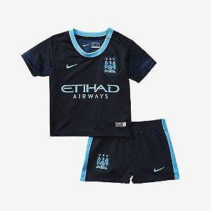Kit oficial infantil Nike Manchester City 2015 2016 II jogador