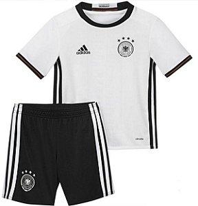 Kit infantil oficial adidas seleção da Alemanha Euro 2016 I jogador