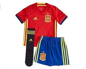Kit infantil oficial adidas seleção da Espanha Euro 2016 I jogador