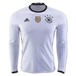 Camisa oficial adidas seleção da Alemanha Euro 2016 I jogador manga comprida