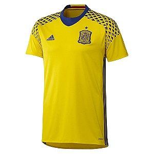 Camisa oficial adidas seleção da Espanha Euro 2016 II Goleiro