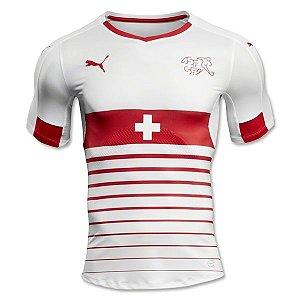 Camisa oficial Puma seleção da Suiça Euro 2016 II jogador