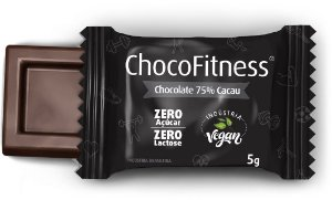 Display CHOCOFITNESS PURO com 50 Mini Tabletes de 5g - 75% Cacau (Sem Açúcar)