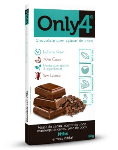Tablete ONLY4 sabor NIBS 80g