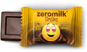 Display ZEROMILK SMILES  com 30 Mini Tabletes de 5g - 40% Cacau