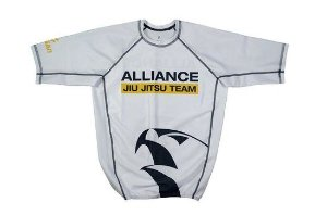 RASH GUARD ALLIANCE BRANCA MANGA CURTA