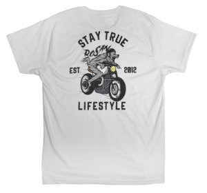 CAMISETA STAY TRUE - BRANCA