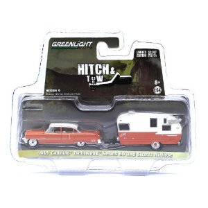 Cadillac Fleetwood Series 60 1955 e Trailer 1/64 Greenlight