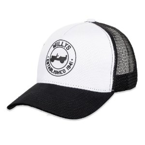 Boné Willys Estabilished Trucker Black and White