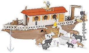 Arca de Noé Com Animais Blocos de Montar 415 Peças Cobi