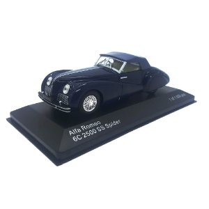 Alfa Romeo 6C 2500 SS Spider 1939 Azul 1/43 Whitebox