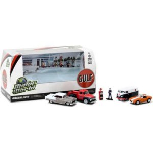 Diorama Gulf Motor World 1/64 Greenlight
