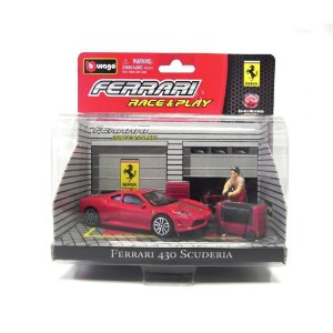 Diorama Ferrari 430 Scuderia Race and Play 1/43 Bburago
