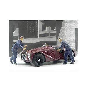 Diorama Ferrari 125 S Fabrica Ferrari 1947 1/43 Brumm