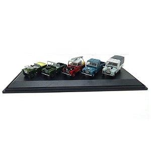 Conjunto com 5 Miniaturas Land Rover 1/76 Oxford