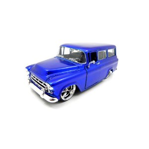 Chevrolet Suburban 1957 Azul 1/24  Jada Toys Big Time Kustoms