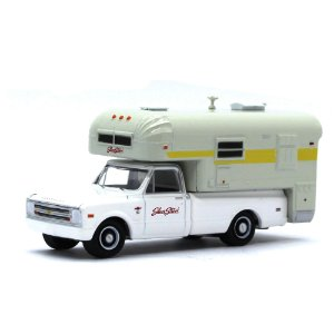 Chevrolet C10 1968 Acampamento 1/64 Greenlight