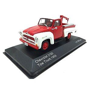Chevrolet 3100 Tow Truck 1956 Vermelho/Branco 1/43 Whitebox