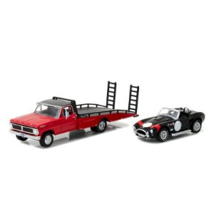Ford F350 com Rampa e Shelby Cobra 427 SC 1965 1/64 Greenlight