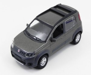 Fiat Uno Way 2012 Cinza Tellurium 1/43 Norev