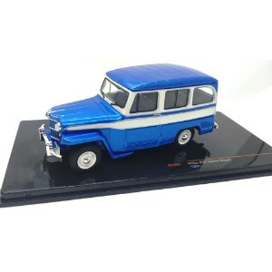 Jeep Willys Station Wagon 1960 Azul 1/43 Ixo