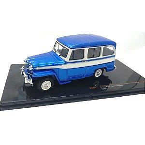 Jeep Willys Station Wagon 1960 Azul 1/43 Ixo