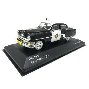 Pontiac Chieftain 1954 Policia da California 1/43 Whitebox