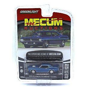 Plymouth Hemi Cuda 1970 Mecum Auctions 1/64 Greenlight