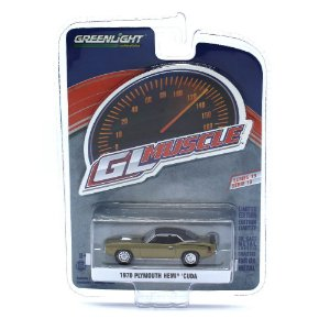 Plymouth Hemi Cuda 1970 GL Muscle Serie 19 1/64 Greenlight